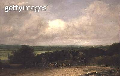 Wooded Landscape with a ploughman - gettyimageskorea
