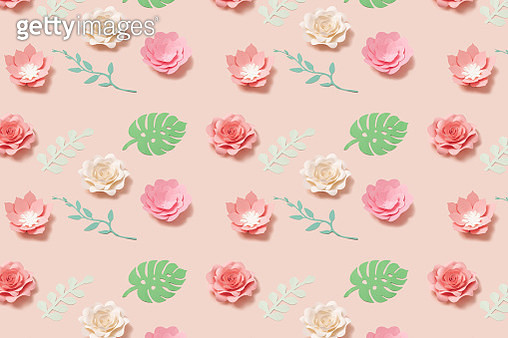 Flower flat lay fashion style on pink background. Minimal composition. Diy concept. - gettyimageskorea