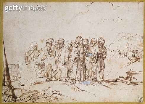 Christ and the Canaanite Woman (drawing) - gettyimageskorea