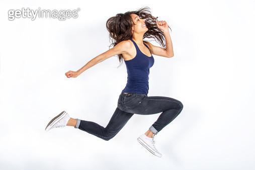 Girl jumping! - gettyimageskorea