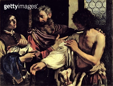 <b>Title</b> : The Prodigal Son (oil on canvas)<br><b>Medium</b> : <br><b>Location</b> : Galleria Borghese, Rome, Italy<br> - gettyimageskorea