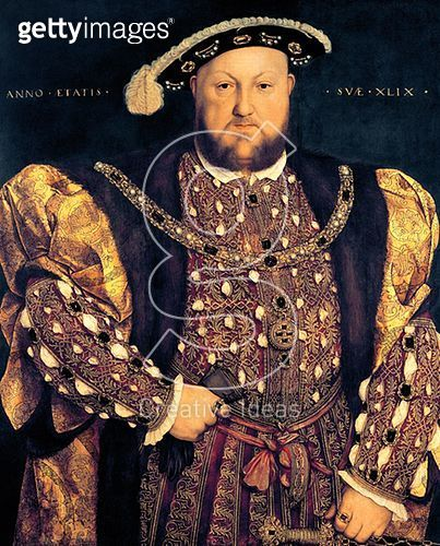<b>Title</b> : Portrait of Henry VIII (1491-1547) aged 49, 1540 (oil on panel)<br><b>Medium</b> : oil on panel<br><b>Location</b> : Palazzo Barberini, Rome, Italy<br> - gettyimageskorea
