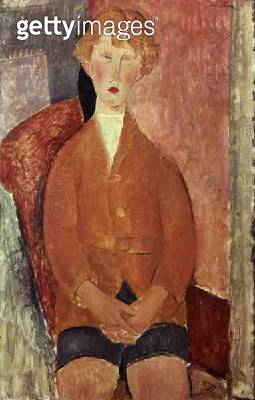 <b>Title</b> : Boy in Shorts, c.1918 (oil on canvas)<br><b>Medium</b> : oil on canvas<br><b>Location</b> : Private Collection<br> - gettyimageskorea