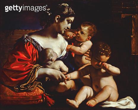 <b>Title</b> : Christian Charity, c.1625-26 (oil on canvas)<br><b>Medium</b> : oil on canvas<br><b>Location</b> : The Dayton Art Institute, Dayton, Ohio, USA<br> - gettyimageskorea