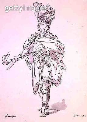 <b>Title</b> : Opera Costume, from the Menus Plaisirs Collection, facsimile by A. Guillaumot Fils (colour litho)Additional Infofrom the Archive<br><b>Medium</b> : colour lithograph<br><b>Location</b> : Private Collection<br> - gettyimageskorea