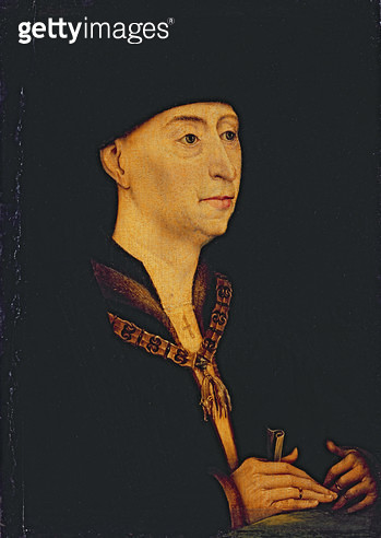 <b>Title</b> : Philip the Good (1396-1467) Duke of Burgundy (1419-67) (oil on panel)Additional Infoson of John the Fearless; father of Charles<br><b>Medium</b> : oil on panel<br><b>Location</b> : Society of Antiquaries, London, UK<br> - gettyimageskorea