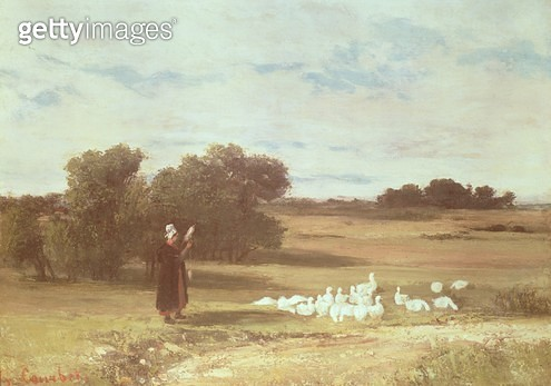 <b>Title</b> : Girl with Geese<br><b>Medium</b> : <br><b>Location</b> : Private Collection<br> - gettyimageskorea