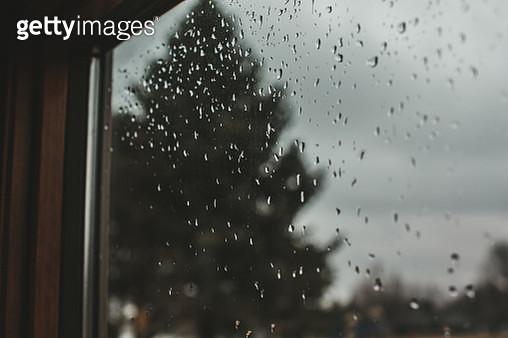 Rain Drop covered window - gettyimageskorea
