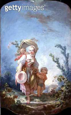 <b>Title</b> : The Shepherdess, 1748-52 (oil on canvas)<br><b>Medium</b> : oil on canvas<br><b>Location</b> : The Detroit Institute of Arts, USA<br> - gettyimageskorea