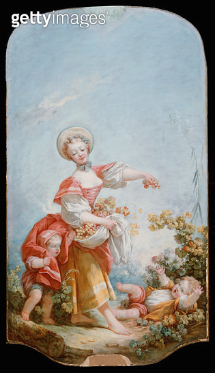 <b>Title</b> : The Grape Gatherer, 1748-52 (oil on canvas)<br><b>Medium</b> : oil on canvas<br><b>Location</b> : The Detroit Institute of Arts, USA<br> - gettyimageskorea