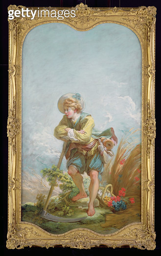 <b>Title</b> : The Harvester, 1748-52 (oil on canvas)<br><b>Medium</b> : oil on canvas<br><b>Location</b> : The Detroit Institute of Arts, USA<br> - gettyimageskorea