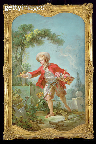 <b>Title</b> : The Gardener, 1748-52 (oil on canvas)<br><b>Medium</b> : oil on canvas<br><b>Location</b> : The Detroit Institute of Arts, USA<br> - gettyimageskorea