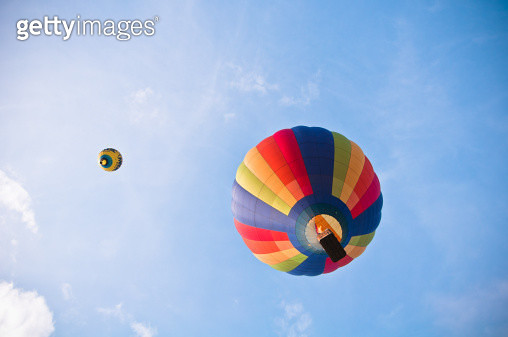 Hot air balloons on a summers evening. - gettyimageskorea