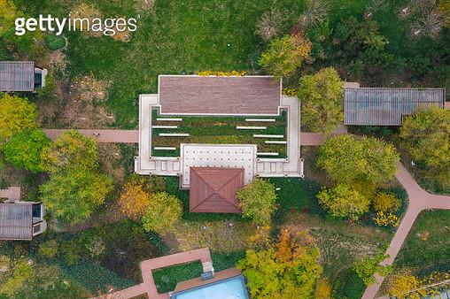 Garden aerial view - gettyimageskorea