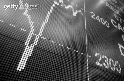 Stock Quote Board, Borse - gettyimageskorea