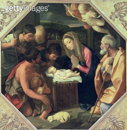<b>Title</b> : The Adoration of the Shepherds<br><b>Medium</b> : <br><b>Location</b> : Pushkin Museum, Moscow, Russia<br> - gettyimageskorea