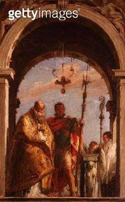 <b>Title</b> : Two Saints<br><b>Medium</b> : <br><b>Location</b> : Pushkin Museum, Moscow, Russia<br> - gettyimageskorea