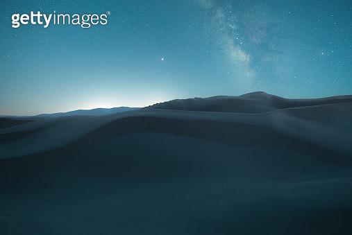 Starry Night in the desert - gettyimageskorea