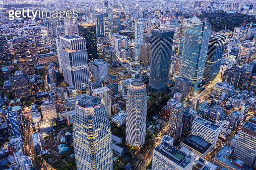 Tokyo Toranomon aerial view of the downtown - gettyimageskorea
