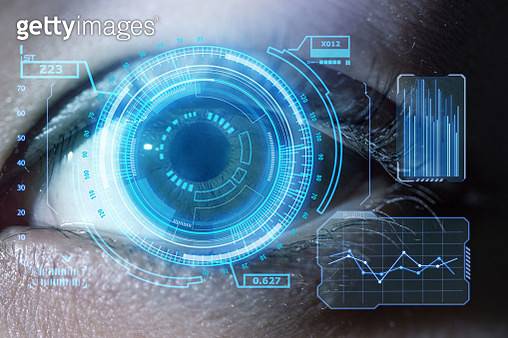 Human eye with using the graphical user interface technology - gettyimageskorea