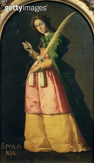 <b>Title</b> : St. Apollonia, c.1636 (oil on canvas)<br><b>Medium</b> : oil on canvas<br><b>Location</b> : Louvre, Paris, France<br> - gettyimageskorea