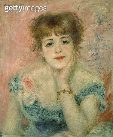 <b>Title</b> : Portrait of the actress Jeanne Samary, 1877 (study)<br><b>Medium</b> : oil on canvas<br><b>Location</b> : Pushkin Museum, Moscow, Russia<br> - gettyimageskorea