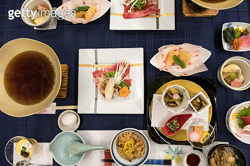 Japanese kaiseki-ryori - traditional multi-course Japanese dinner - gettyimageskorea