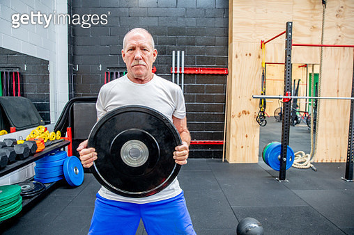 Adventures of an active Australian senior male, working out in the gym - gettyimageskorea