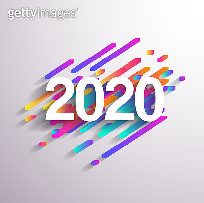 Abstract gradient Happy New Year 2020 Background for your Christmas. EPS 10 vector illustration, contains transparencies. High resolution jpeg file included. - gettyimageskorea