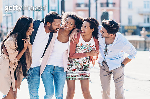 Group of friends spending time together - gettyimageskorea