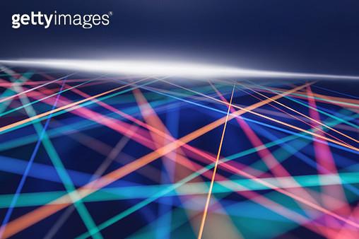 crossing rainbow color strings - gettyimageskorea