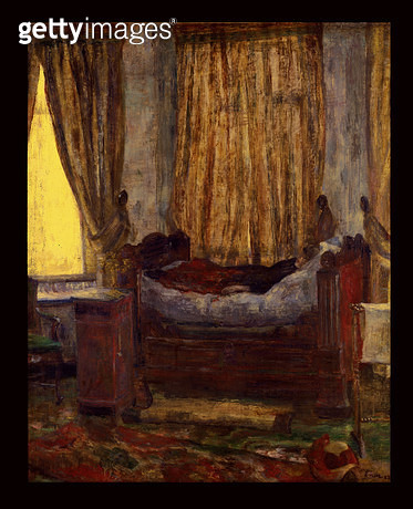 <b>Title</b> : The Damsel in Distress, 1882 (oil on canvas)<br><b>Medium</b> : oil on canvas<br><b>Location</b> : Musee d'Orsay, Paris, France<br> - gettyimageskorea