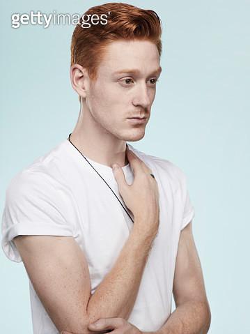 Portrait of a caucasian redhead man - gettyimageskorea