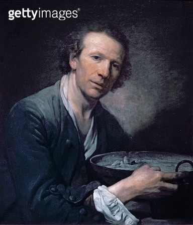 <b>Title</b> : Joseph, a Model of the Royal Academy holding a Frying Pan, 1755 (oil on canvas)Additional Infoholding a dish or pan;<br><b>Medium</b> : oil on canvas<br><b>Location</b> : Louvre, Paris, France<br> - gettyimageskorea
