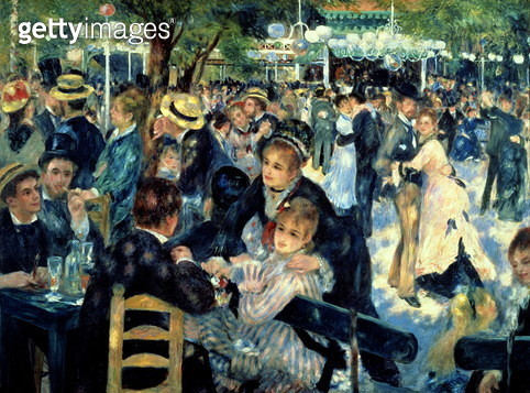 Ball at the Moulin de la Galette, 1876 (oil on canvas) (see 98034) - gettyimageskorea