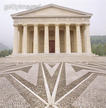 <b>Title</b> : Antonio Canova's Temple (photo)Additional Infohe is buried in the tempio; it is now a parish church;<br><b>Medium</b> : <br><b>Location</b> : Possagno, Veneto, Italy<br> - gettyimageskorea