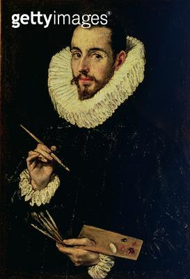 <b>Title</b> : Portrait of Jorge Manuel Theotokopoulos (1578-1631), 1600-05 (oil on canvas)<br><b>Medium</b> : oil on canvas<br><b>Location</b> : Museo de Bellas Artes, Seville, Spain<br> - gettyimageskorea