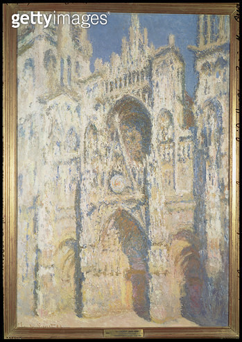 <b>Title</b> : Rouen Cathedral in Full Sunlight: Harmony in Blue and Gold, 1894<br><b>Medium</b> : oil on canvas<br><b>Location</b> : Musee d'Orsay, Paris, France<br> - gettyimageskorea