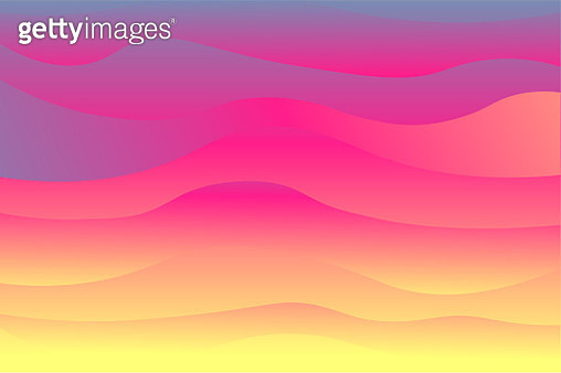 Digital representation of sunset sky with illustrator creation and gradient colors. - gettyimageskorea