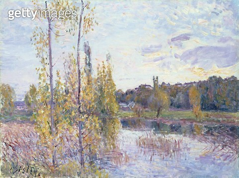 <b>Title</b> : The Lake at Chevreuil<br><b>Medium</b> : oil on canvas<br><b>Location</b> : Private Collection<br> - gettyimageskorea