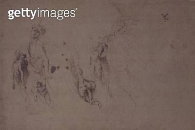 Study of Medea Slaying her Children (pen & ink) - gettyimageskorea