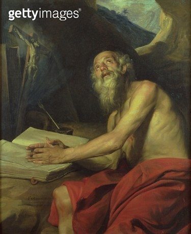 <b>Title</b> : The Vision of St. Jerome<br><b>Medium</b> : <br><b>Location</b> : Private Collection<br> - gettyimageskorea