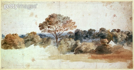 <b>Title</b> : A Landscape (pen and brown ink)<br><b>Medium</b> : <br><b>Location</b> : Private Collection<br> - gettyimageskorea