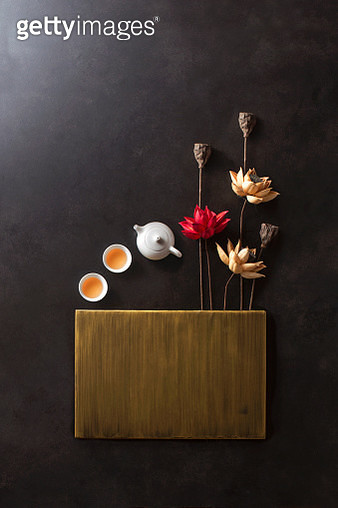 Traditional east asian still life background. - gettyimageskorea