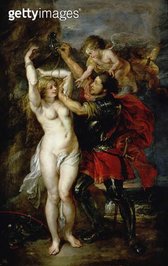 <b>Title</b> : Perseus and Andromeda, 1633 (oil on canvas)<br><b>Medium</b> : oil on canvas<br><b>Location</b> : Prado, Madrid, Spain<br> - gettyimageskorea