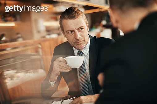 Business people having coffee - gettyimageskorea
