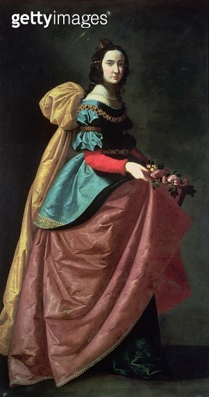 <b>Title</b> : St. Elizabeth of Portugal (1271-1336) 1640 (oil on canvas)<br><b>Medium</b> : oil on canvas<br><b>Location</b> : Prado, Madrid, Spain<br> - gettyimageskorea