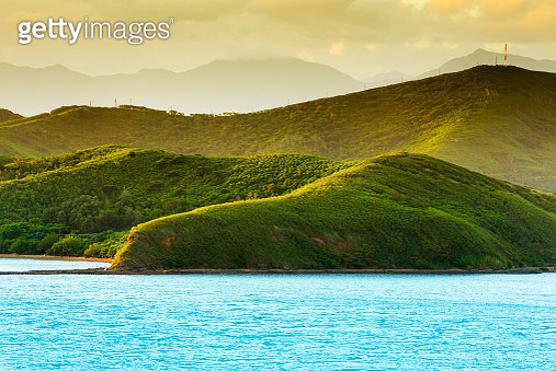 Scenic View Of Lake And Mountains Against Sky - gettyimageskorea