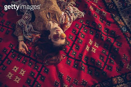 Girl sleeping - gettyimageskorea
