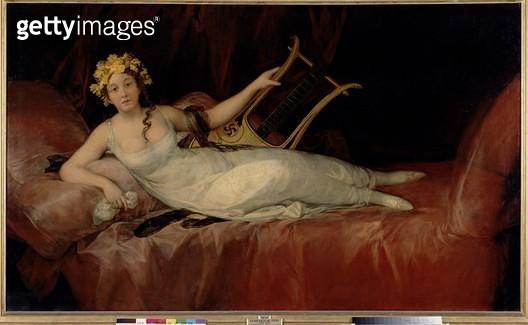<b>Title</b> : The Marquesa de Santa Cruz, 1805 (oil on canvas)<br><b>Medium</b> : oil on canvas<br><b>Location</b> : Prado, Madrid, Spain<br> - gettyimageskorea